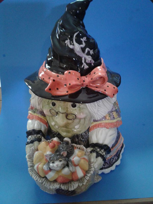FITZ AND FLOYD GYPSY WITCH COOKIE JAR NUMBERED PIECE for Sale in  Jacksonville, FL - OfferUp