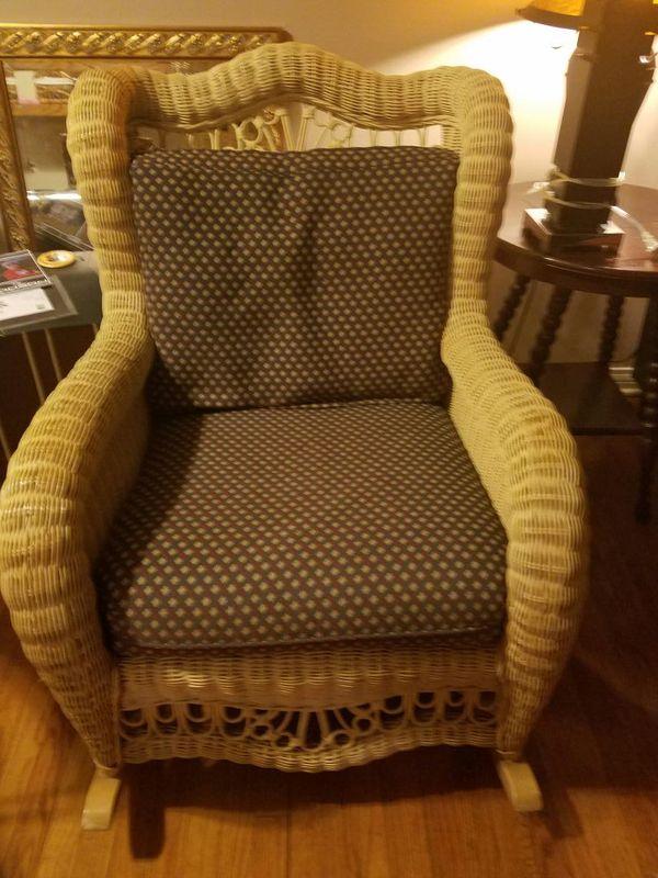 Ethan Allen Wicker Rocking Chair