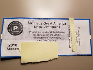 Six Flags one day parking pass for Sale in Chicago, IL