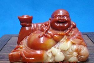 Jade Agalmatolite Delighted, Laughing Buddha Statue for Sale in Chicago, IL