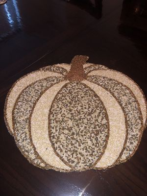 One PC Pumpkin Beaded Placement. Please see all the pictures and read the description for Sale in Bailey's Crossroads, VA