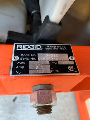 Photo Ridgid k-380 drain cleaner $350