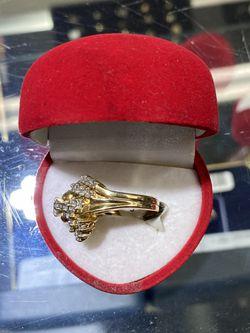 14k Gold Ring With Diamonds  Thumbnail