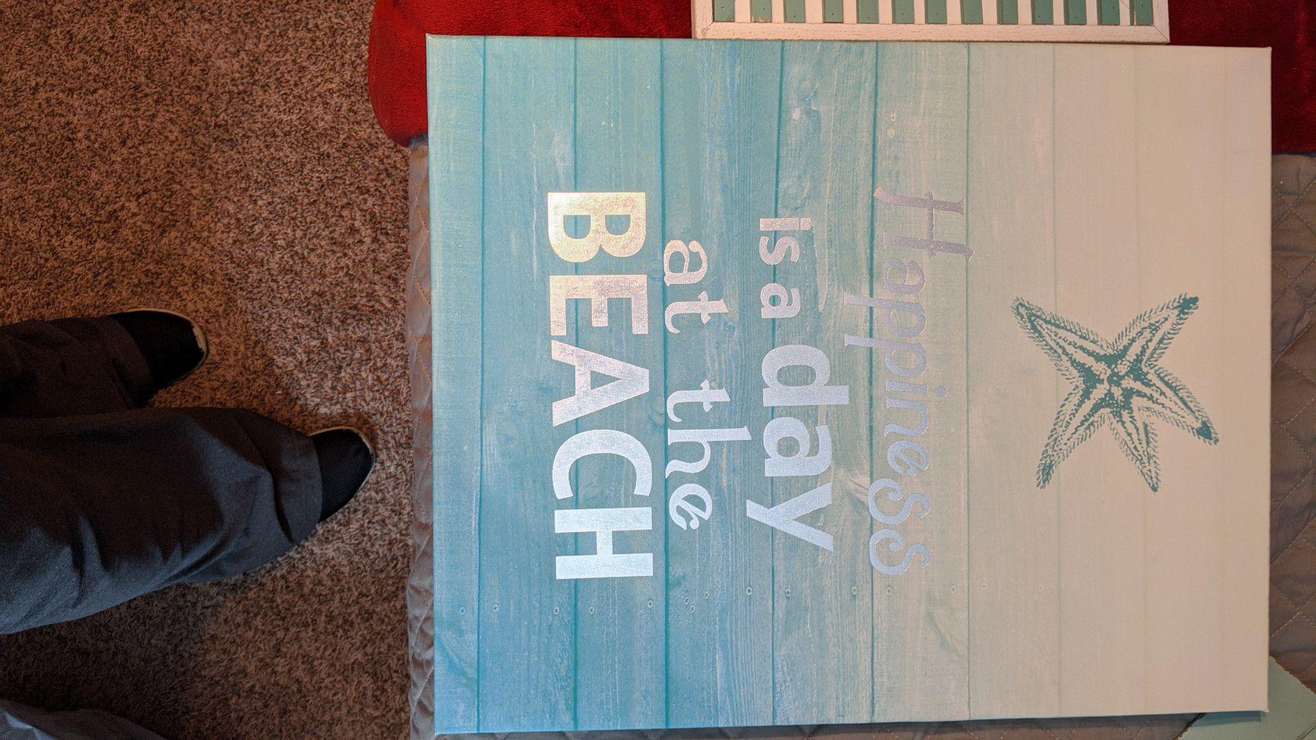 Beach theme canvas print