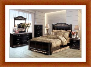 Black Ashley bedroom set with free shipping for Sale in Fairfax, VA
