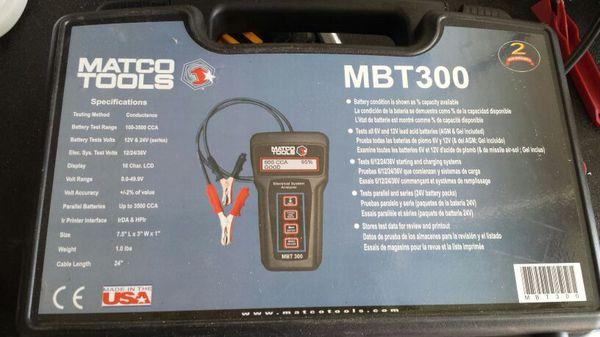 Matco Battery Tester MBT300 for Sale in Phoenix, AZ - OfferUp