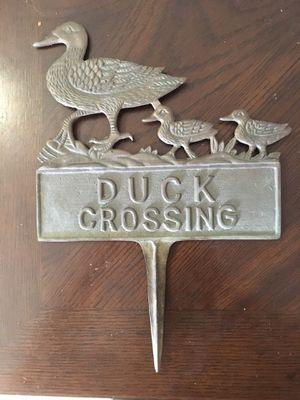 Vintage bronze ducks crossing sign for Sale in Branford, CT
