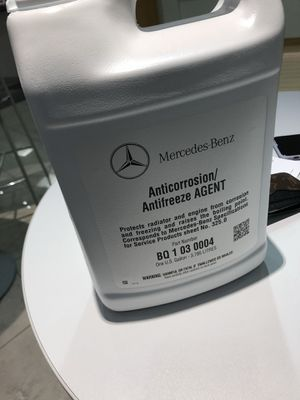 Mercedes benz coolant from MB OF BOSTON dealership for Sale in Boston, MA