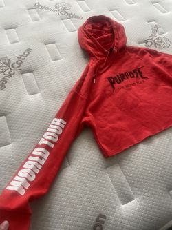 Small Crop Top Justin Bieber Sweater.  Thumbnail