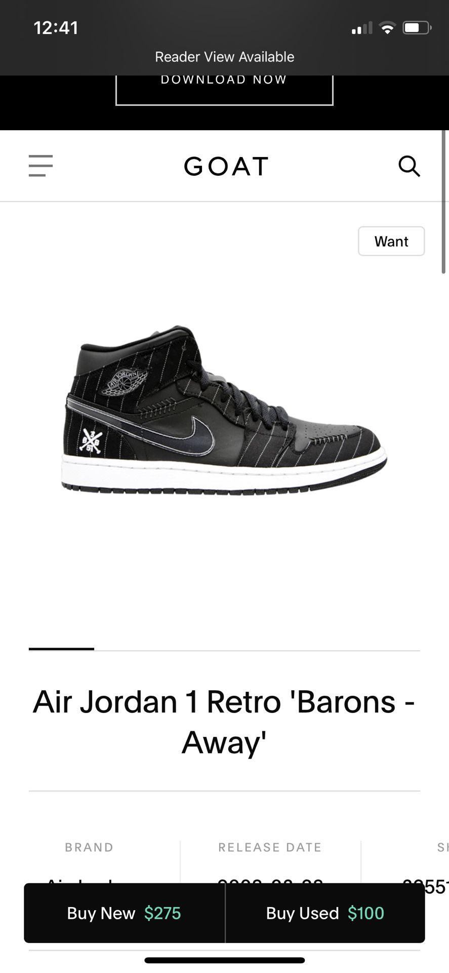 "Air jordan 1 retro ""barons"""