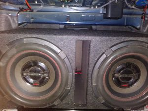 Two 12 inch subwoofers in the Box and 4000 watt amplifier for Sale in Harrisburg, PA