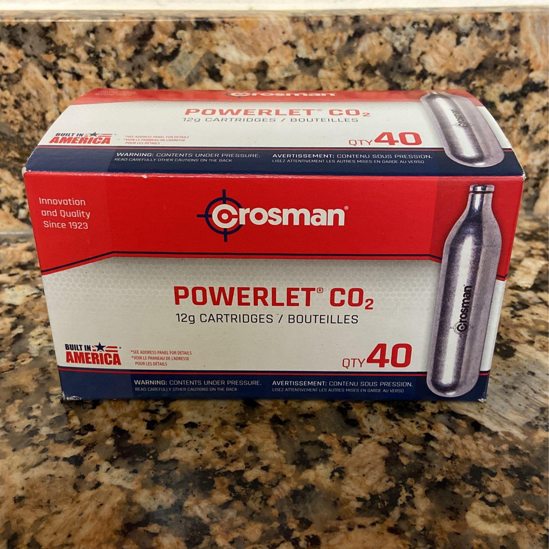 Crosman Powerlet CO2 12g Cartridges 40 Count