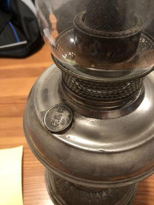 B & H kerosene lamp antique original for Sale in Bethlehem, PA