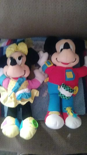 Mickey and Minnie Mouse from Disney learning how to dress for Sale in Lake Elmo, MN