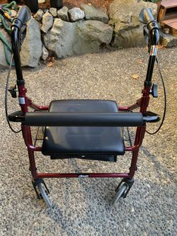 DRIVE Walker  With Brakes,  Seat, Storage  Can Fold For Easy Storage  Almost New   $100 Thumbnail