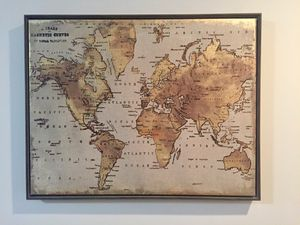 World Map with Gold Push Pins for Sale in Washington, DC