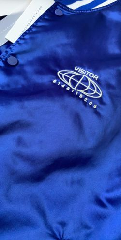 Visitor On Earth Blue Varsity Bomber (double-sided) Thumbnail