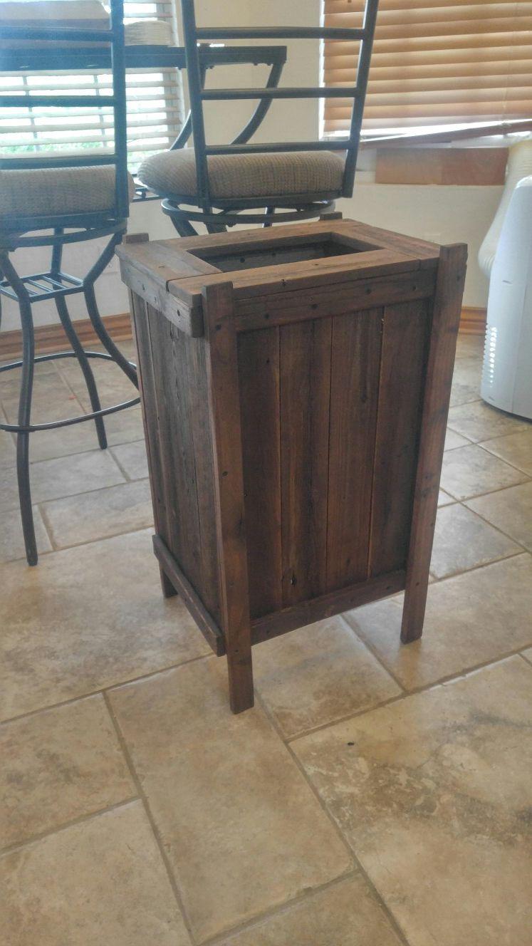 Tall rustic planter box
