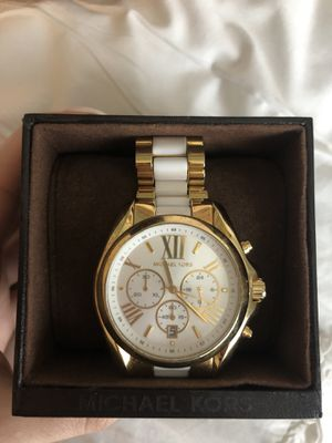 Michael Kors Gold and white watch for Sale in Ocoee, FL