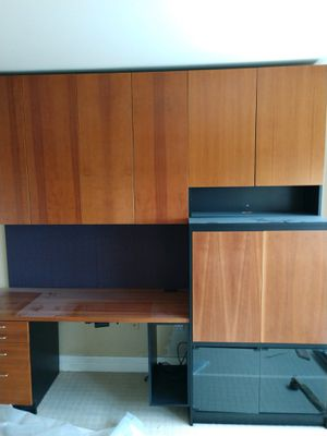 Desk wall unit with pull out TV armoire for Sale in Pittsburgh, PA