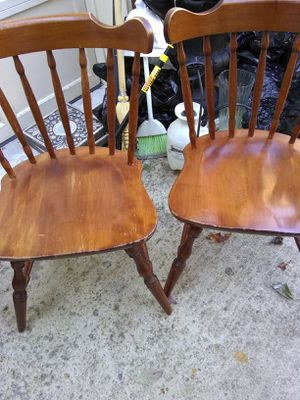 2 wooden chairs for Sale in Alexandria, VA