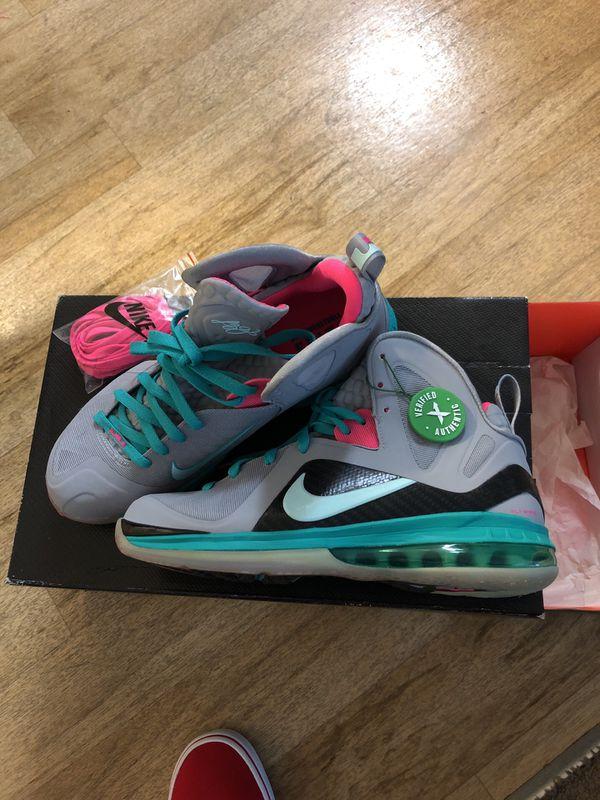 info for 242ea bf2a0 Nike lebron 9 south beach 9.5 new