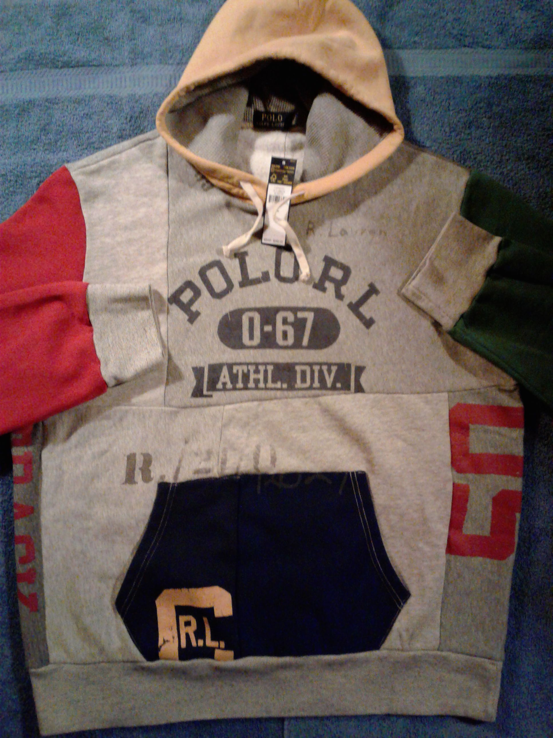 Polo stadium hoodie XL supreme bape