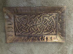 Celtic design glass art with copper finish for Sale in Atlanta, GA