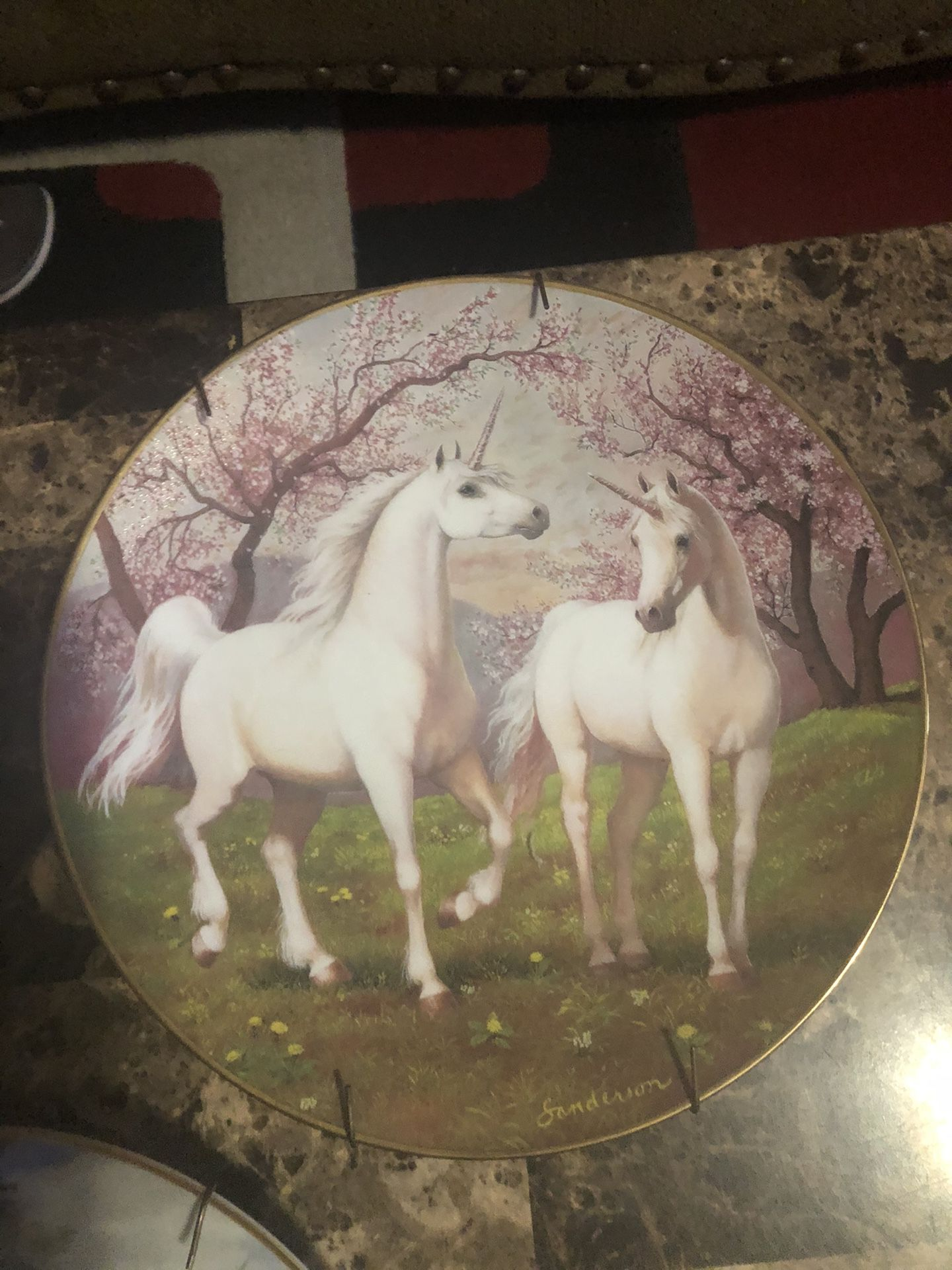 The enchanted world of the unicorn plate collection