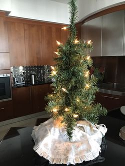 Christmas tree with lights Thumbnail