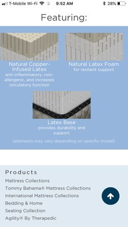 Pure touch Luxury latex king mattress Thumbnail