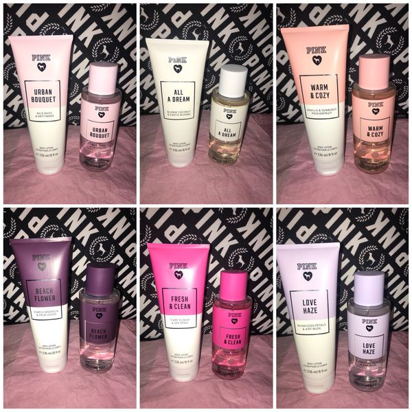 195a44eae076b New Victoria's Secret PINK Body Wash & Lotion Set $20 Each for Sale ...