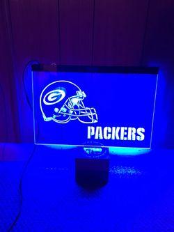 Green Packers LED Neon Light Sign Thumbnail