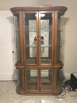Curio Cabinet • China Cabinet Antique Thumbnail