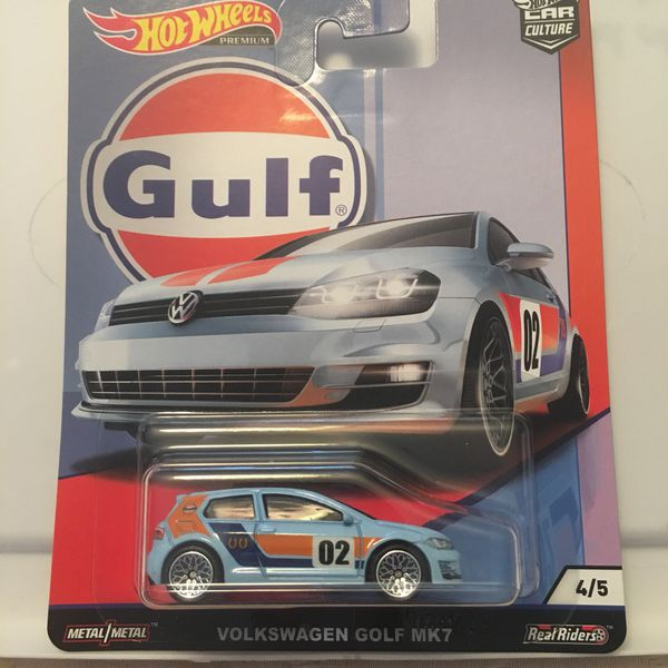 Hot Wheels Vw Volkswagen Golf Mk7 Gulf Series Collectible