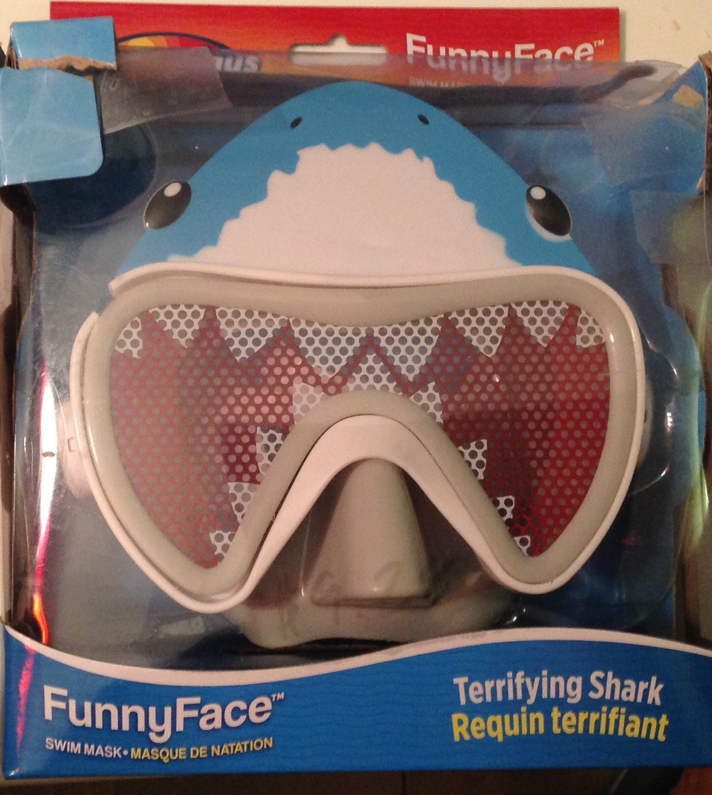 Funny face mask sharck