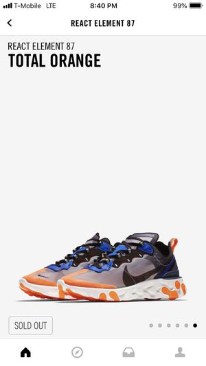Nike Elemental React 87 Orange for Sale in Annandale, VA