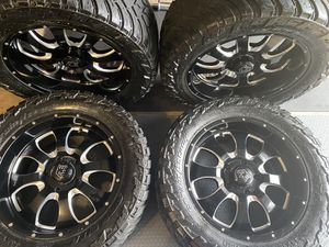 Photo MAKE OFFER - AMP Mud Terrain Attack Tires and American Eagle Wheels