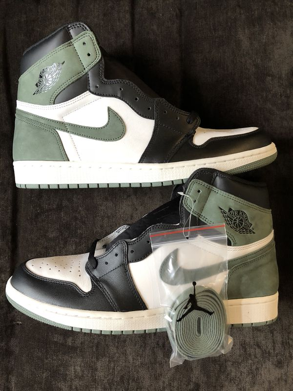 f9cdc695b82efb Air Jordan Retro 1 High OG Clay Green WITH RECEIPT!!! 555088-135 Sz 13