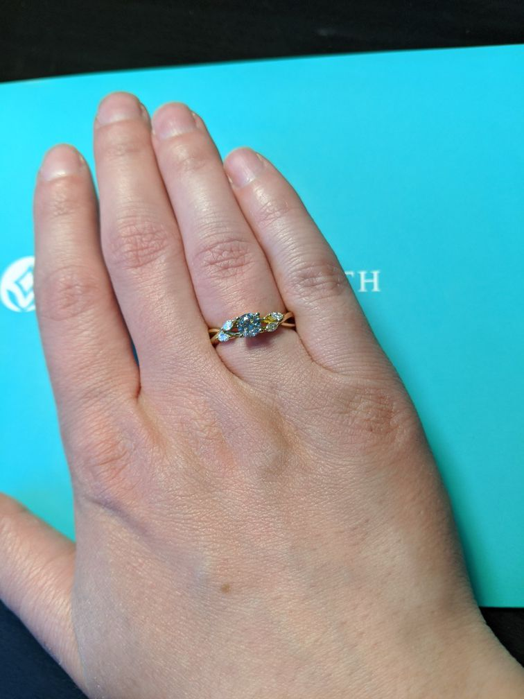 Brilliant Earth Willow Engagement Ring Size 4.25