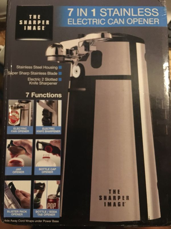New The Sharper Image 7 In 1 Electric Can Opener Brand New In Box