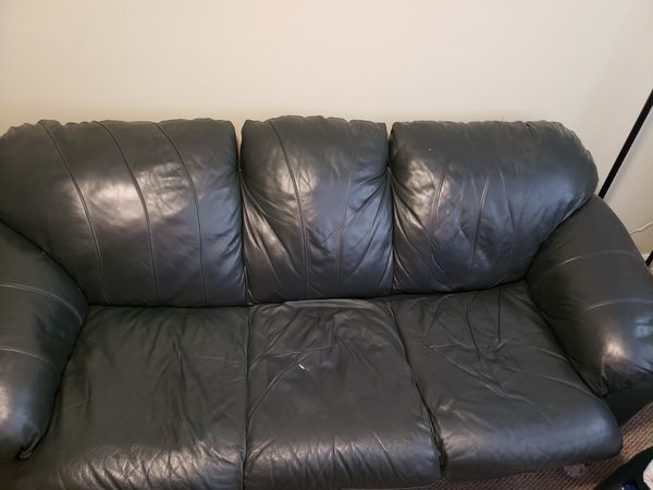 Dark Green Leather Sofa Bed