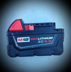 Milwaukee M18 4.0 battery for Sale in City of Industry, CA