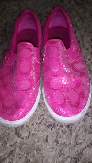 Photo Slip-on Coach shoes fuchsia pink very nice and great condition serious buyers only please