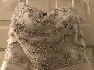 Casablanca wedding gown plus matching veil & trumpet slip for Sale in Washington, DC