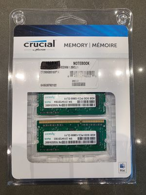 Apacer 8GB PC3-12800 CL11 SODIMM Kit for Sale in Seattle, WA
