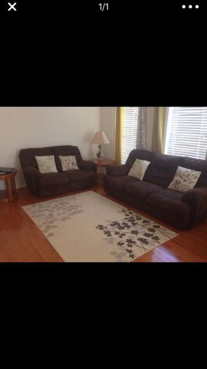 Recliner Sofa with Side tables and lamps for Sale in Fairfax, VA