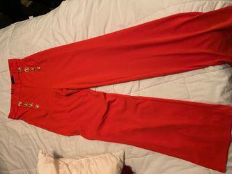 Orange loose pants size medium Thumbnail