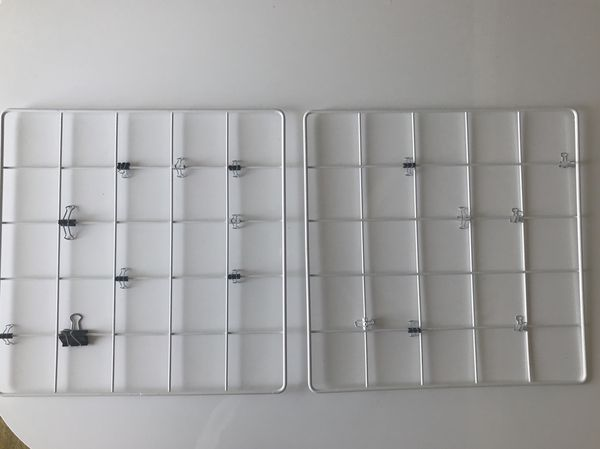 Wire Wall Grid | White Wire Wall Grid Photo Grid For Sale In Encinitas Ca Offerup