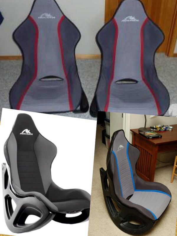 Cool Ak Designs Ak 100 Rocker Gaming Chair Gray Black Red Skin Gmtry Best Dining Table And Chair Ideas Images Gmtryco